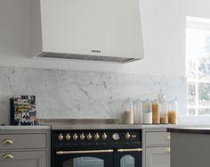 Carrara marmor som kökskakel