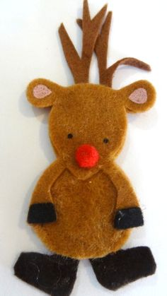 How to make Christmas Brooch - Reindeer - DIY Craft Project with instructions from Craftbits.com