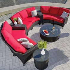 Outdoor Furniture - Fireside of Bend Resin Wicker Patio Furniture, Deck Furniture, Furniture Styles, Outdoor Furniture Sets, Outdoor Sectional, Outdoor Seating, Outdoor Decor, Ideas Geniales, Design Moderne