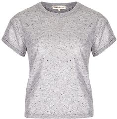 Limited Edition Shimmer Effect Cropped T-Shirt