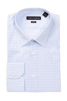 Vince Camuto | Modern Fit Check Dress Shirt | Nordstrom Rack 15.5 32-33