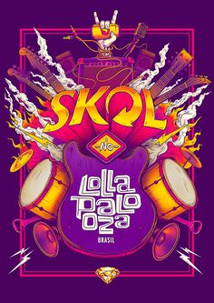 "Check out this @Behance project: ""SKOL - Lollapaloza / Bigodon key visual"" https://www.behance.net/gallery/45404107/SKOL-Lollapaloza-Bigodon-key-visual"