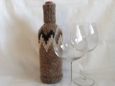wine bottle covers wine sleeve handmade by mybeautifulmonster