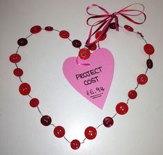 Give something special this Valentine's Day...  Why not make a beautiful hanging button heart?  #craft #handmade #unique #buttons #heart #valentines  http://direct.hobbycraft.co.uk/shop/valentine%27s-day