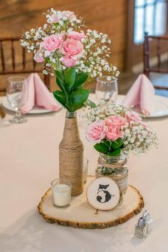 Wedding Wedding Table Centerpieces Diy Rustic Center Pieces Ideas Make The Most Of Wedding Centerpieces Mason Jars, Rustic Wedding Centerpieces, Wedding Table Centerpieces, Bridal Shower Decorations, Wedding Decorations, Centerpiece Flowers, Table Wedding, Centerpiece Ideas, Cheap Flower Arrangements