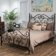 The Lorelei metal bed frame comes complete with all of the necessary parts for a sturdy and sophisticated focal point to the most important room in your home. This bed frame will revitalize and transform your sanctuary. Cama Murphy Ikea, Modern Murphy Beds, Murphy Bed Plans, Headboard And Footboard, Metal Beds, Decorate Your Room, Bed Styling, Bed Sizes, Platform Bed