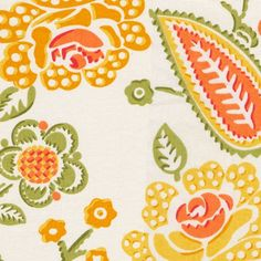 Lime Mimosa Fabric #fabric