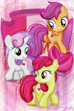 Cutie Mark Crusaders  Sweetie Belle Apple Bloom Scootaloo