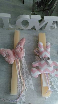 Decorated Candles, Orthodox Easter, Candle Art, Christening, Diy And Crafts, Gift Wrapping, Bows, Holidays, Dress