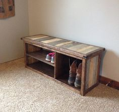 Rustic Shoe/Boot Bench