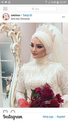 Setr-i Nur 0 850 466 19 76 # tesettürgelinbaşı … – Jena Downs Muslim Wedding Gown, Muslimah Wedding Dress, Muslim Wedding Dresses, Wedding Gowns, Muslim Brides, Muslim Couples, Bridal Hijab Styles, Fluffy Wedding Dress, Modele Hijab