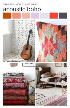 #CarolineCupcake trend inspiration. Boho | Bohemian | Tribal | Navajo | Textiles | Fashion | Pattern | Textile Trend 2015 | Textile Trend 2016.