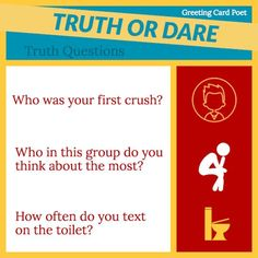Truth or Dare: Revealing Truth Questions and Jaw-Dropping Dares Questions For Your Crush, Questions For Friends, This Or That Questions, Truth Or Dare Games, Truth And Dare, Do Your Best, Best Part Of Me, Fun Dares, Truth Or Truth Questions