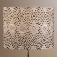 One of my favorite discoveries at WorldMarket.com: Tribal Drum Table Lamp Shade