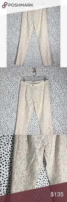 Pierre Balmain Lace Pants Gently worn, excellent condition. Size 40/26. No trades, no pp. more pictures and measurements soon. Pierre Balmain Pants Ankle & Cropped