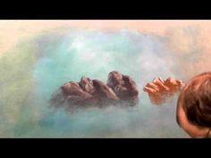 Chalk artist Jim Pence demonstrates how to draw rocks with lecturer's chalk. Chalk Pastel Art, Soft Pastel Art, Pastel Artwork, Chalk Pastels, Oil Pastels, Cloud Drawing, Pastel Drawing, Drawing Rocks, Chalk Artist
