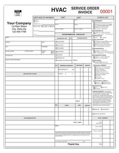 Free Hvac Service Forms Template Before You Call A Ac
