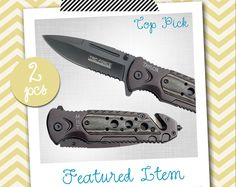 Groomsmen Gifts 2 PERSONALIZED Knives Engraved Knife Custom Knife Engraved Pocket Rescue Knife Hunting Knife Groomsman Gifts Gift for Men by InSwank on Etsy (null)