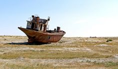 <b>Ever since the Soviet Union diverted the rivers that flowed into the Aral Sea in the 1960s, its coastline has been receding.</b> Today, the arid desert land only harbors the remnants of dozens of shipwrecks. There