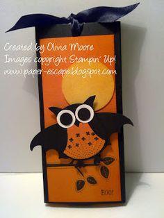 Demonstrator Australia: Halloween with the Owl Punch Stampin' Up! Punch Halloween, Halloween Tags, Fall Halloween, Halloween Crafts, Halloween Ideas, Fall Cards, Holiday Cards, Owl Punch Cards, Paper Punch Art