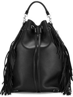 3373bf8b7f5 Saint Laurent Large  emmanuelle  Fringe Black Tote Bag. Get one of the  hottest