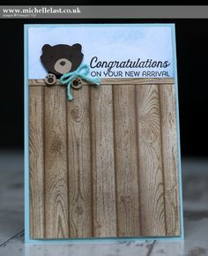 Baby Bear Card for Global Design Project - with Michelle Last