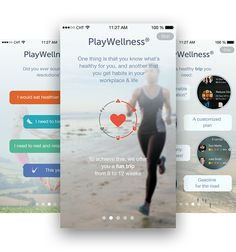 PlayWellness iPhone app by Cuberto, via Behance