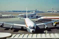 Trans World Airlines (TWA) Boeing at Los Angeles-International, September The scene also includes a company Convair 880 and a National Airlines Douglas (Photo: S. Helicopter Plane, Airplane Pilot, Boeing 707, Boeing Aircraft, Drones, Douglas Dc 8, National Airlines, Aviation Industry, Vintage Air