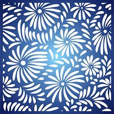 Flower Pattern Stencil - x (S) - Reusable Large Flora Allover Daisy Pattern Wall Stencil Template - Use On Paper Projects Scrapbook Journal Walls Floors Fabric Furniture Glass Wood Etc. Wall Patterns, Flower Patterns, Arc Planner, Flower Stencils, Wallpaper Stencil, Aluminium Doors, Daisy Pattern, Scrapbook Journal, Stenciling