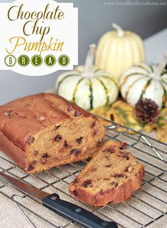 Love Of Family & Home: Chocolate Chip Pumpkin Bread