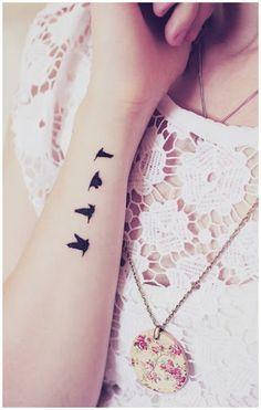 Bird Wrist Tattoos on Pinterest | Swallow Tattoo Wrist, Bird ...