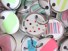 Duh, office supplies for tags....DIY washi tape gift tags