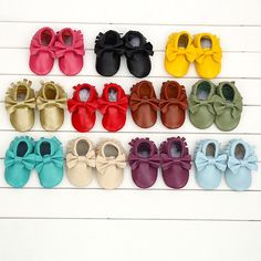 Colorful Baby bow moccs for baby girl promotion today from 9p.m to tomorrow 9am $19 free shipping international support PayPal payment