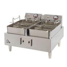 Star 530TF Countertop Electric Fryer - (2) 15-lb Vat, 208v/1ph