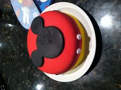 Mickey Mouse Clubhouse first birthday party smash cake