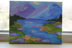 Spring Mountains by DanaWagnerStudio on Etsy