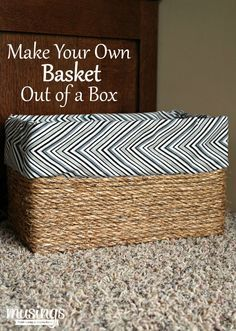 A Super Easy, No Sew Way To Create The Look Of A Lined Basket Without