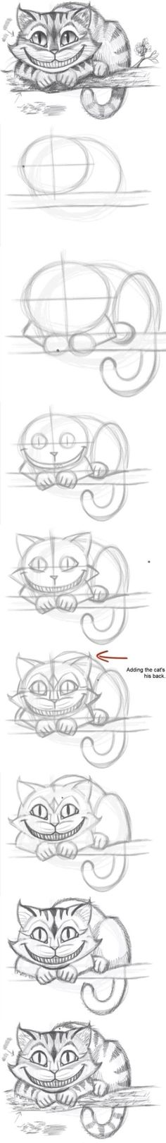 #Drawing Lessons❤# Cheshire Cat❤#Meow❤