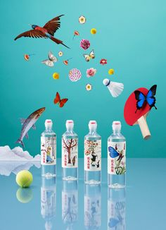 We'd expect to see enchanting illustrations in children's books, but not  necessarily on bottles of water.Horsecreated the design for Nongfu Spring  Mineral Water, a new product aimed at a younger market. The bottle features  a leak-free cap and whimsical illustrations from renowned artist Brett  Ryder.