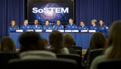 NASA Astronaut Joe Acaba moderates a panel discussion with NASA's 2013 astronaut candidates on Wednesday, Jan. 29, 2014.