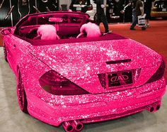 love it sprakle pink car