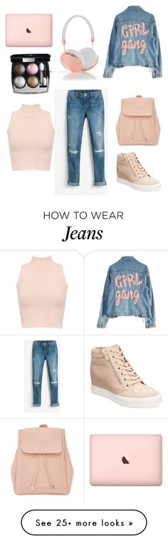"""aesthetic jeans"" by anyarmnt on Polyvore featuring White House Black Market, High Heels Suicide, WearAll, New Look, ALDO, Frends and Chanel"