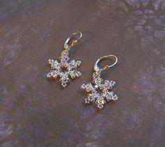 Tutorial Swarovski Snowflake Earrings by nwbead on Etsy
