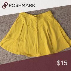 Yellow Skater / Flounce Skirt Yellow Skater / Flounce Skirt - Elastic Waistband Size S Forever 21 Skirts Circle & Skater