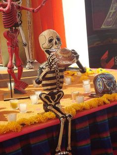 Dia de Muertos/Day of the dead~ By Patricia Diaz Mexico Day Of The Dead, Day Of The Dead Art, Skeleton Art, Mermaid Skeleton, All Souls Day, Mexican Holiday, Mexican Folk Art, Skull And Bones, Memento Mori