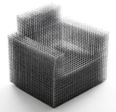 sièges, armature filaire, Kouichi Okamoto, Composition Chair