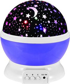 IREALIST 4 LED Night Lighting Lamp Romantic Rotating Star Projector Lamp for Christmas Rotation Night Projection for Children Kids Bedroom Purple * To view further for this item, visit the image link. (Note:Amazon affiliate link)
