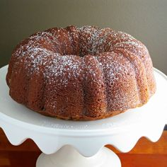 Pumpkin Bundt Cake is a delicious, light pumpkin pound cake made using simple pantry ingredients, filled with warm spices and pumpkin-y goodness throughout.