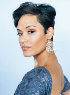 If you are a fan of Empire, you have definitely taken notice of Grace Gealey's chic hair and style. The actress, who plays Anika Calhoun on the hit show, sat down with Essence to discuss her … Grace Gealey, Short Hair Cuts, Short Hair Styles, Natural Hair Styles, Short Pixie, Pixie Cuts, Big Chop, My Hairstyle, Cute Hairstyles