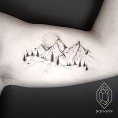 Lake Tattoo, 4 Tattoo, Tattoo Motive, Side Tattoos, Body Art Tattoos, New Tattoos, Tattoos For Guys, Trends 2018, Canadian Tattoo